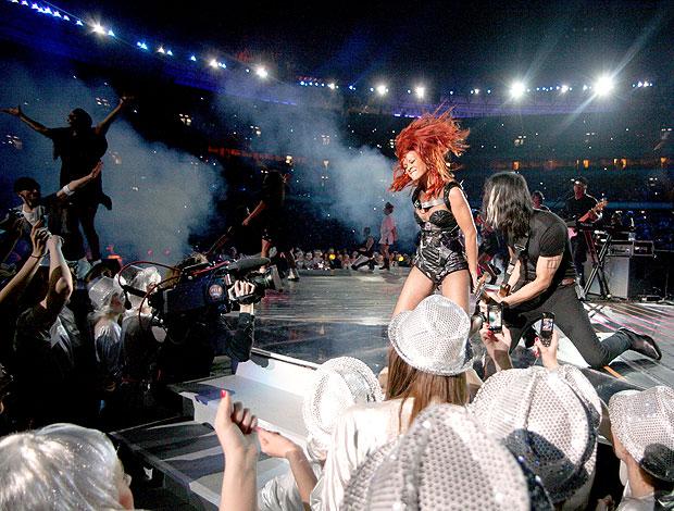 Rihanna faz show na Ucrânia para o aniversário do Shakhtar  (Foto: AFP)