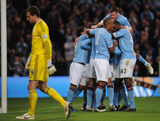 gol manchester city x Stoke City (Foto: Getty Images)