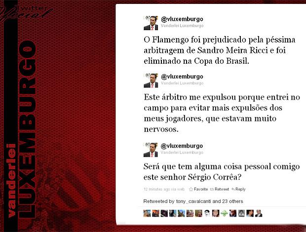 twitter Luxemburgo reclamação de juiz  (Foto: Reprodução / Twitter)