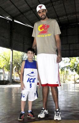 Jogador de basquete Damião Rodrigues em Cuiabá (Foto: Iara Vilela/GE MT)