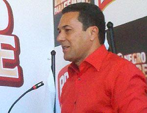 Luxemburgo fala durante evento do Flamengo (Foto: Richard Souza / GLOBOESPORTE.COM)