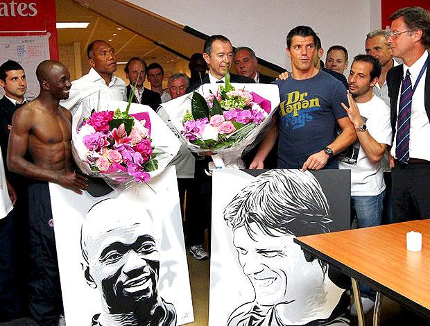 Gregory Coupet e Claude Makelele encerram carreira no PSG (Foto: Divulgação)