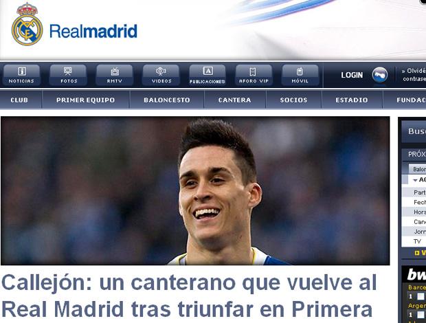 print site real madrid (Foto: Reprodução/Site Oficial)