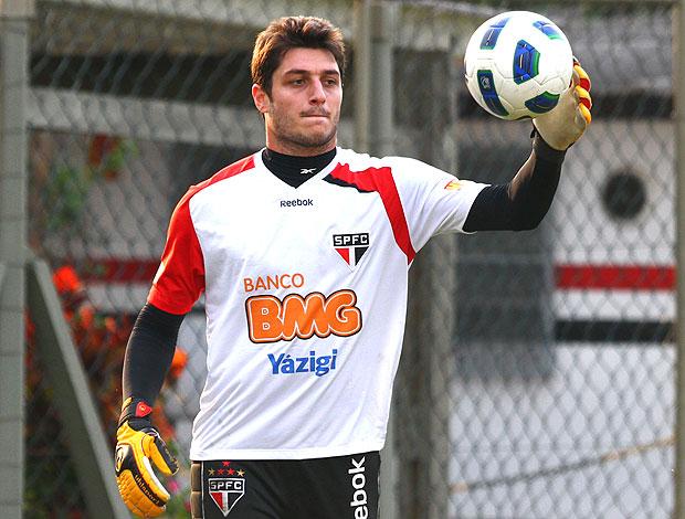 Denis no treino do São Paulo (Foto: Luiz Pires / VIPCOMM)