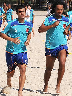 Egidio Ronaldinho treino Flamengo (Foto: Alexandre Vidal / Fla Imagem)
