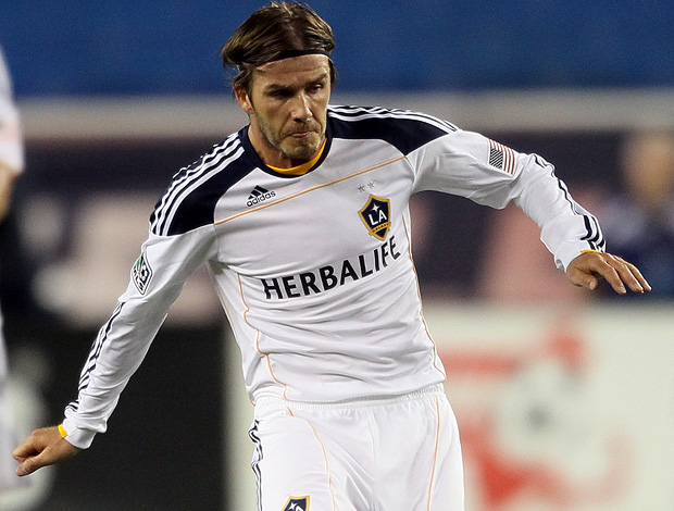 beckham los angeles galaxy New England Revolution (Foto: agência Getty Images)