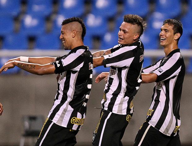 antonoio carlos alex fabio ferreira botafogo gol santos (Foto: Satiro Sodré / AGIF)