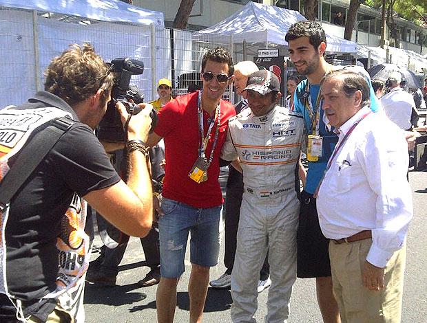 Arbeola e Albiol no GP de Mônaco (Foto: Divulgação)