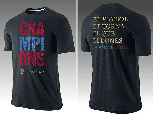 camisa comemorativa do título da Champions do Barcelona (Foto: Divulgação)
