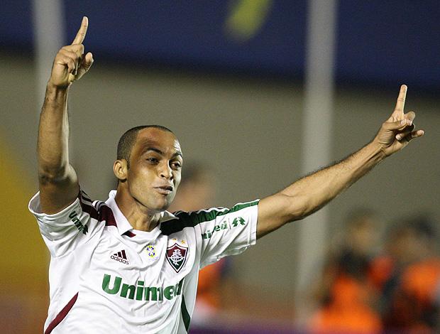 leandro euzebio fluminense gol atlético-go (Foto: André Costa / Agência Estado)
