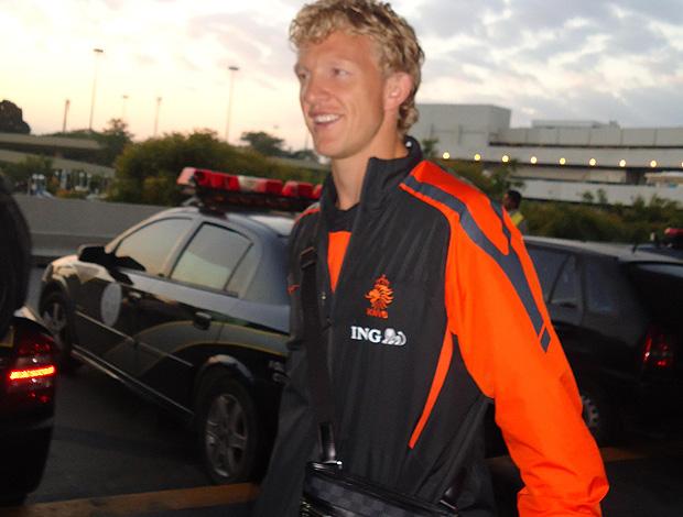 Dirk Kuyt holanda desembarque (Foto: Victor Canedo / Globoesporte.com)