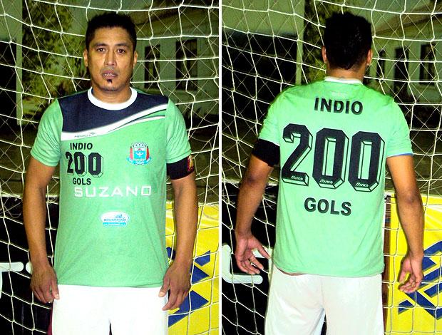 Índio, pivô de futsal do Suzano com camisa 200 (Foto: Divulgação)