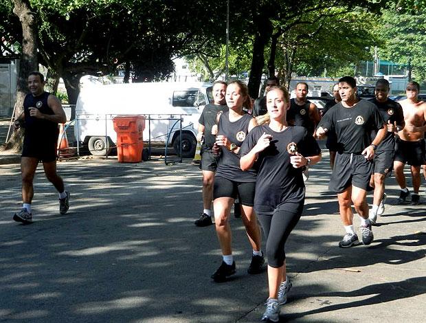 Treino corrida de rua Bope (Foto: Lucas Loos / Globoesporte.com)