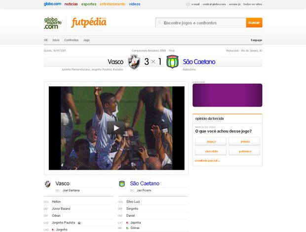 Futpédia Jogo (Foto: Reprodução)