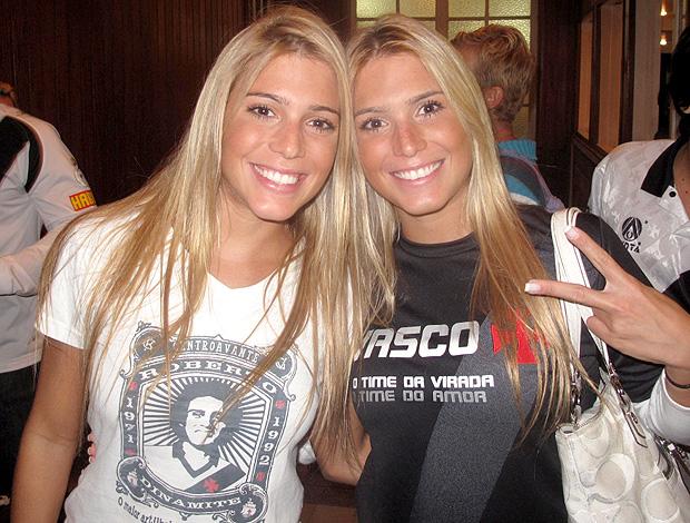 gêmeas Bia Branca vasco (Foto: Fred Huber / Globoesporte.com)