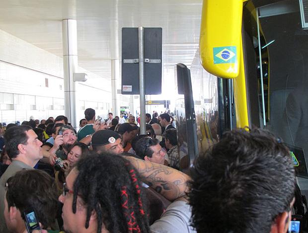 ônibus brasil goiânia (Foto: Leandro Canônico / Globoesporte.com)