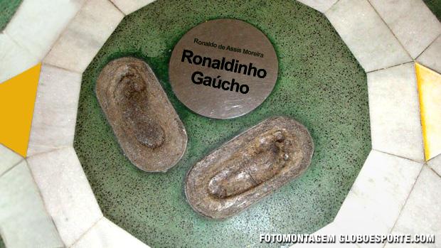 Ronaldinho Gaúcho calçada da fama Maracanã (Foto: Montagem  / Globoesporte.com)