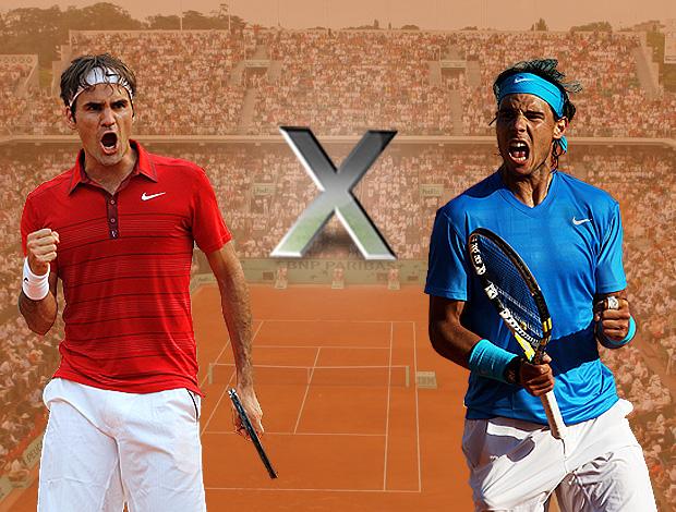 federer nadal final roland garros tênis (Foto: Editoria de Arte/GLOBOESPORTE.COM)