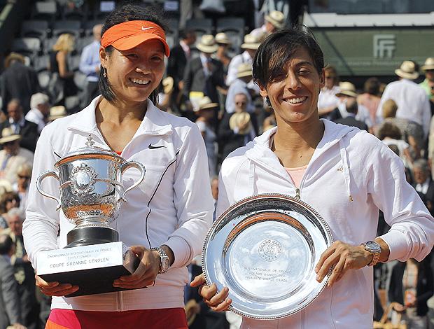 Na Li tênis Francesca Schiavone Roland Garros troféus Evonne Goolagong (Foto: AFP)