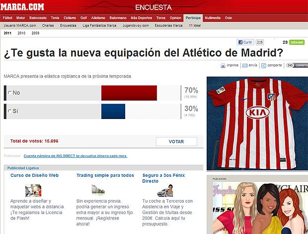 nova camisa Atlético de Madrid (Foto: Reprodução / Marca)