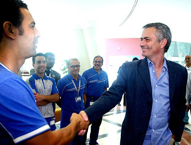 José Mourinho durante evento esportivo em Doha (Foto: AP)