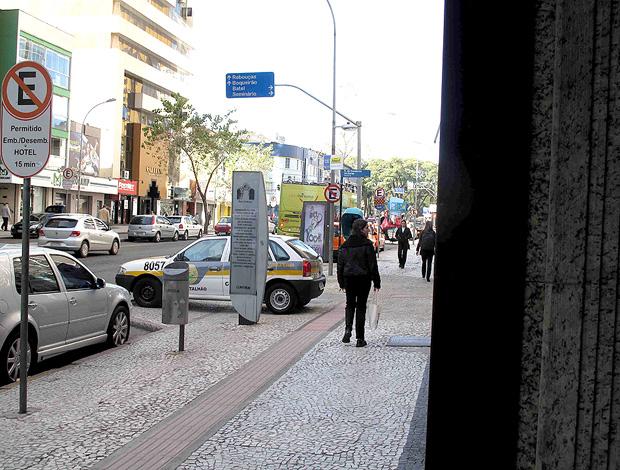 policiamento hotel vasco curitiba copa do brasil (Foto: Rafael Cavalieri / Globoesporte.com)
