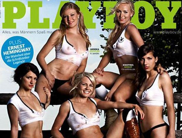 reprodução capa playboy jogadores da seleção da alemanha (Foto: Divulgação)
