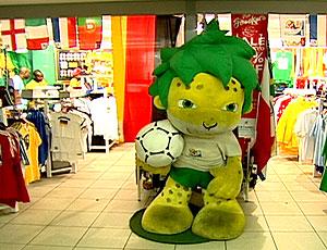 FRAME loja com produtos 1 ano após Copa da África (Foto: Reprodução)
