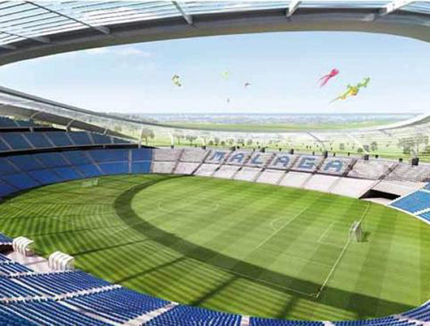 estádio málaga (Foto: Divulgação/Site Oficial)