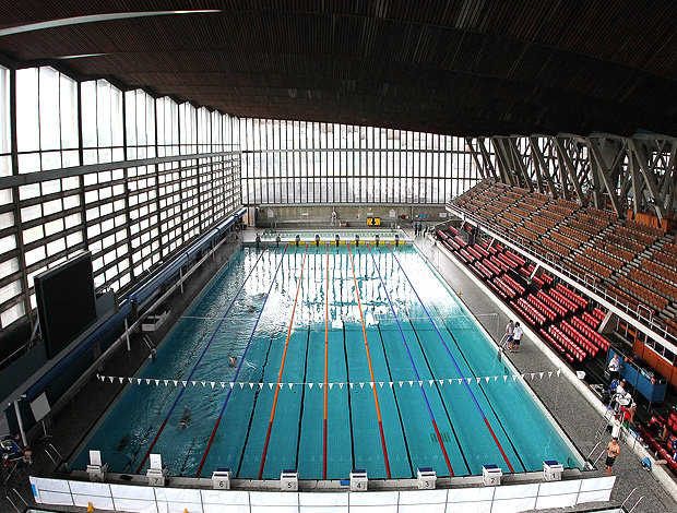 Piscina do Centro Esportivo Crystal Palace inglaterra (Foto: Satiro Sodré / AGIF)