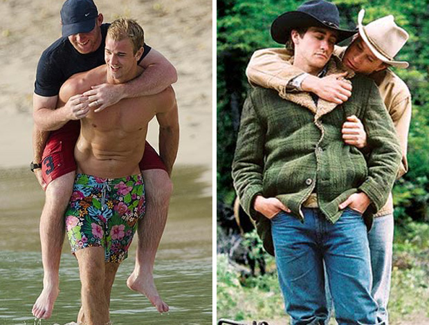 MONTAGEM - joe hart rooney broke back mountain (Foto: Editoria de Arte / Globoesporte.com)