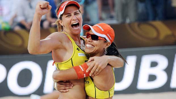 Juliana e Larissa vencem a final de Roma (Foto: Divulgação/CBV)