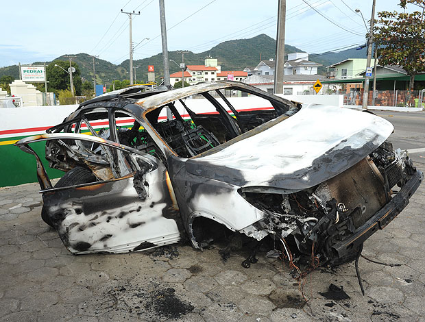 Dudu do Figueirense se envolve em acidente de carro (Foto: Ag. RBS)