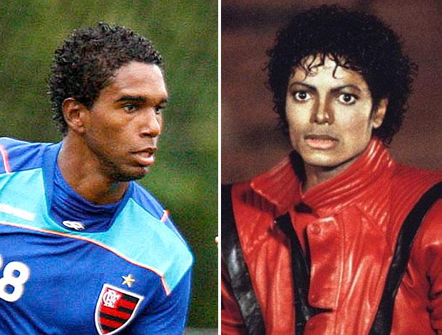 montagem Luiz Antônio Flamengo Michael Jackson (Foto: Editoria de Arte / GLOBOESPORTE.COM)