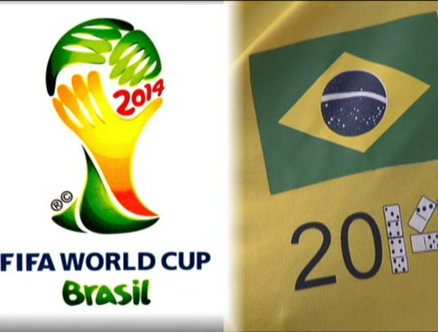 Logo do Campeonato Mundial de Dominó em Brasília (Foto: Reprodução/TV Globo)
