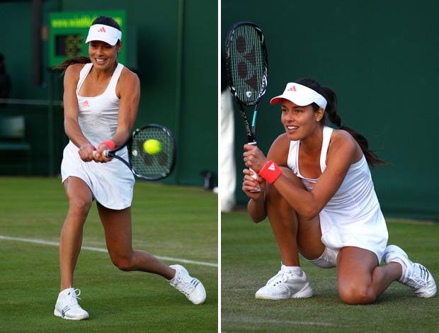 tênis gata Ivanovic (Foto: Montagem sobre foto da Getty Images)