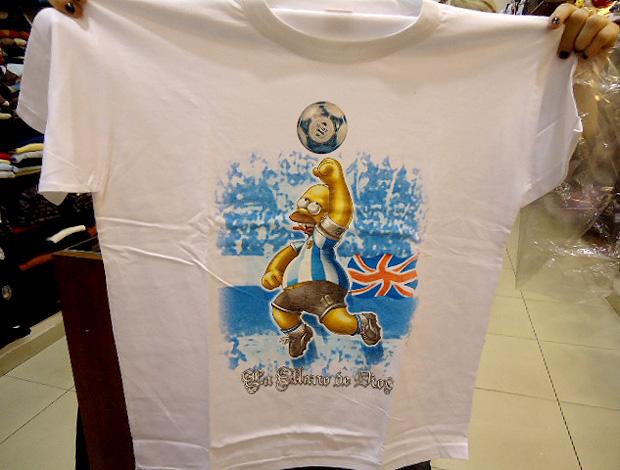 camisa gol de mão maradona argenitna inglaterra (Foto: Marcos Felipe / Globoesporte.com)