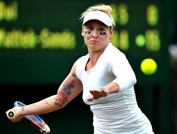 Bethanie Mattek-Sands tênis Wimbledon 1r (Foto: AFP)