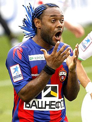 Vagner Love na partida do CSKA contra o Lokomotiv (Foto: AFP)