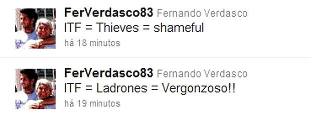 Fernando Verdasco ataca Federação Internacional no Twitter: 'Ladrões'