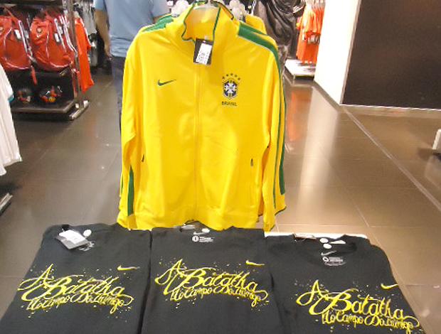 camisas Brasil vendidas na Argentina (Foto: Marcos Felipe / Globoesporte.com)