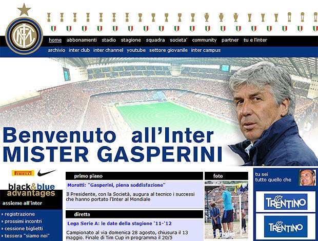 Gian Piero Gasperini Site Inter de Milão (Foto: Reprodução)