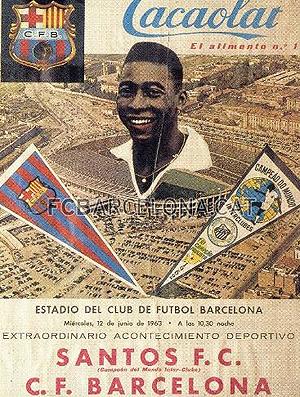 Pelé Santos x Barcelona (Foto: site oficial do Barcelona)