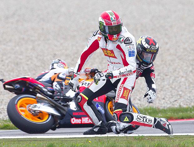 Moto GP Marco Simoncelli Jorge Lorenzo (Foto: Reuters)