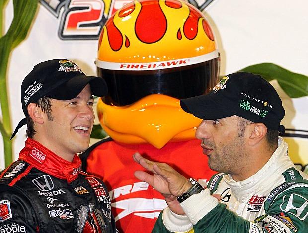 Marco Andretti e Tony Kanaan, GP de Iowa Fórmula Indy (Foto: Getty Images)