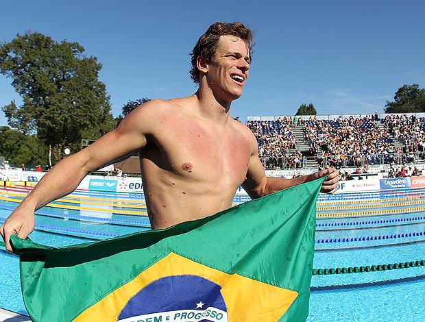 Cesar Cielo natação Open de Paris (Foto: Satiro Sodré / AGIF)