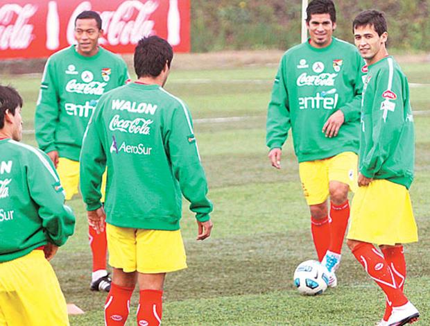 Treino Seleção Bolívia (Foto: Divulgação)