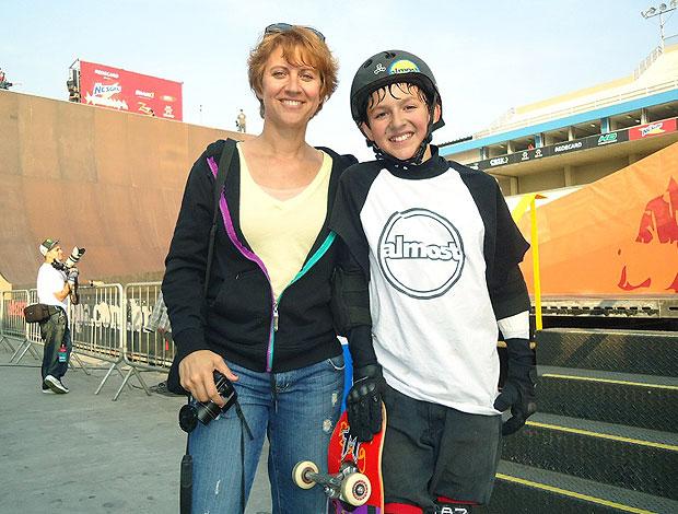 Mitchie na Megarampa de skate (Foto: Breno Dines / GLOBOESPORTE.COM)