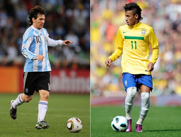 neymar messi brasil argentina (Foto: Getty Images)