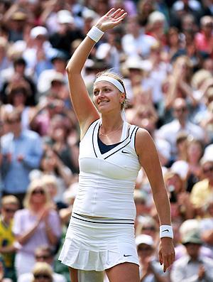 Kvitova se garante na final em Wimbledon